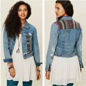 Free People Baja Denim Jacket Sz 6